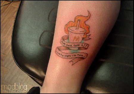 mcdonalds milkshake  tattoo