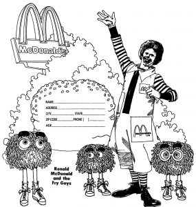 mcdonalds coloring page